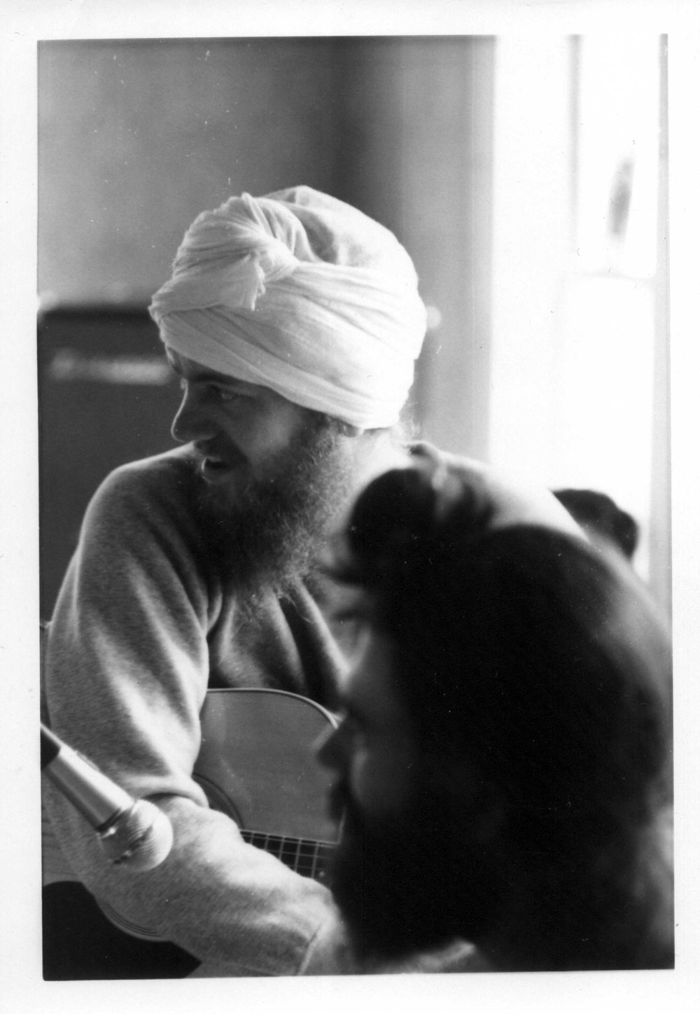 Livtar Singh Khalsa at the recording of 'Jewels from the East', ca. 1972