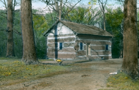 Turkey Run, Indiana (state park) -  log cabin in woods
