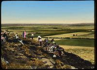 Coronado Heights Kinds Gorge, Kansas (people overlooking agricultural landscape)
