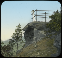 Woman standing on Rock Overlook