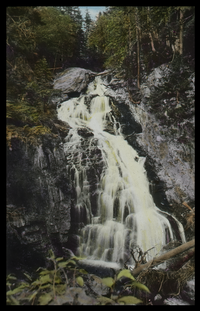 Crystal Cascades Pinkham Notch (water cascading down rock formations)