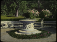 D.CA.  French, Glendale (White marble foundation in formal garden)