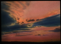 Sunset, Pelham (pink and blue sky)