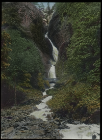 Wahkeena Falls, Oregon ( high winding falls with stone bridge)