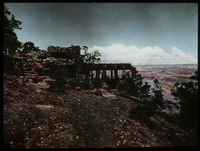 Hermit Rest, Grand Canyon (wood and stone building overlooking canyon)