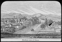Northern view of Lenox (etching)