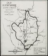 Old Hampshire scenic Circuit 100 miles, over the hills and home again, designed by Waugh (map)
