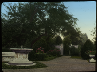 D.CA.  French Garden (formal garden with fountain, bushes and gravel path)