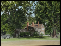 Old Deerfield (Colonial Deerfield house with car)