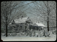 Residence of Prof.W.R.Hart - photo by A.K.H. (Residence in winter under snow)