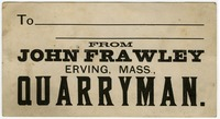 Business card for John Frawley