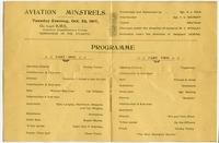 Aviation Minstrels program