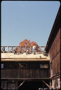 Roofing work on barn , Montague