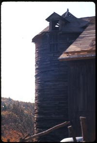 Silo on barn, Montague