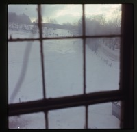 'View from the window' (over snow covered field, looking east, Montague)