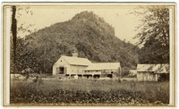 Barns at the southern base of Sugar Loaf Mountain, South Deerfield