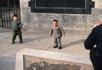 Kindergartners fooling around (Peking)