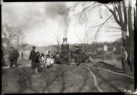 Demonstration of Old Stanmer fire pump (Enfield, Mass.)