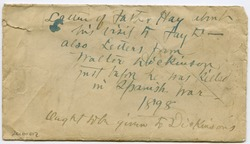 Envelope containting letters from Walter M. Dickinson