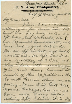 Letter from Walter M. Dickinson to Asa W. Dickinson, linking to the digital object