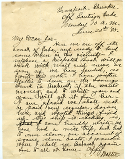 Letter from Walter M. Dickinson to Joseph B. Lindsey, linking to the digital object