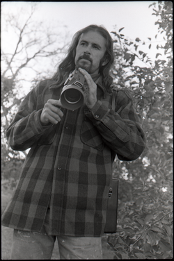 Peter Harris with Fujica Simple-8 camera (Warwick, Mass.), linking to the digital object