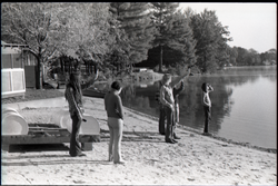 Commune members at lake side (Warwick, Mass.), linking to the digital object