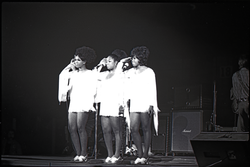 Richard Nader's Rock and Roll Revival concert at the Springfield Civic Center: the Shirelles saluting (Springfield, Mass.), linking to the digital object