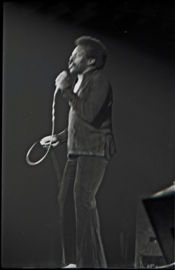 Richard Nader's Rock and Roll Revival concert at the Springfield Civic Center: Lloyd Price, singing (Springfield, Mass.), linking to the digital object