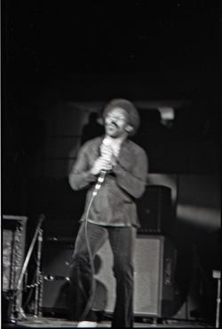 Richard Nader's Rock and Roll Revival concert at the Springfield Civic Center: Lloyd Price, singing (blurry) (Springfield, Mass.), linking to the digital object