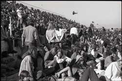 Hollywood Speedway Rock Festival: shot of the crowd seated in the grandstands (Pembroke Pines, Fla.), linking to the digital object