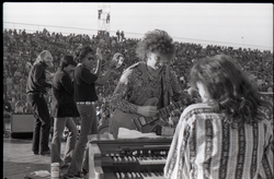 Hollywood Speedway Rock Festival: Elvin Bishop Group in performance: Elvin Bishop playing to keyboardist Steve Miller, Jo Baker in background) (Pembroke Pines, Fla.), linking to the digital object