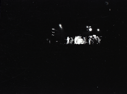 Hollywood Speedway Rock Festival: view of unidentified band on stage at night (Pembroke Pines, Fla.), linking to the digital object