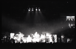 Santana concert at the Springfield Civic Center: band in performance (blurred and overexposed) (Springfield, Mass.), linking to the digital object
