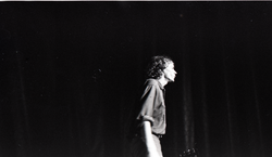 Livingston Taylor in concert: Taylor walking off stage (Springfield, Mass.), linking to the digital object