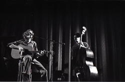Livingston Taylor in concert: Taylor (acoustic guitar and vocals) and Walter Robinson (acoustic bass) (Springfield, Mass.), linking to the digital object
