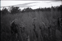 Communards crouching in a grassy field (Greenfield, Mass.), linking to the digital object