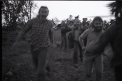 Communards running toward camera (blurry) (Greenfield, Mass.), linking to the digital object