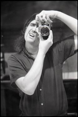 Marty Liebmann self portrait in mirror (Greenfield, Mass.)