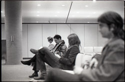 Portrait of people waiting at JFK airport (New York, N.Y.), linking to the digital object