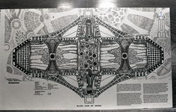 "Architectural sketch of ""Asteromo"" city by Paolo Soleri (Greenfield, Mass.), linking to the digital object"