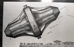 "Architectural sketch of ""Asteromo"" by Paolo Soleri (Greenfield, Mass.), linking to the digital object"
