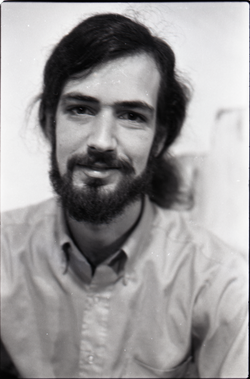 Half-length studio portrait of Steve Wilhelm, linking to the digital object