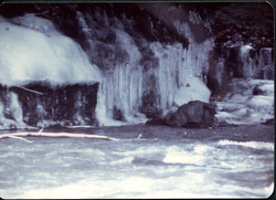 Iced-over waterfalls and river (Massachusetts, linking to the digital object