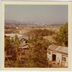 Oriente Province, with Santiago de Cuba in distance