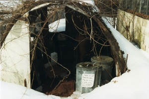 quonset hut buried in the snow