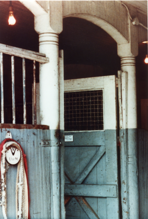Queen Anne Horse Barn interior