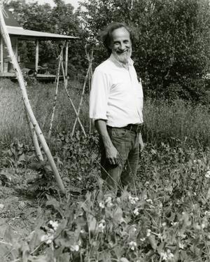 Samuel Kaymen standing in a field