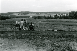 Tractor in a Vermont field