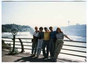 Group of women at Niagara Falls
